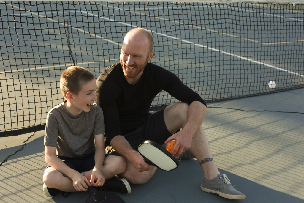 father and son tennis